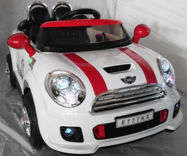 Электромобиль Rivertoys Mini Сooper E777KX VIP белый с дистанционным управлением