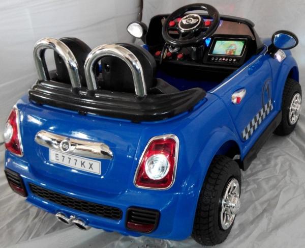 Электромобиль Rivertoys Mini Сooper E777KX VIP синий с дистанционным управлением