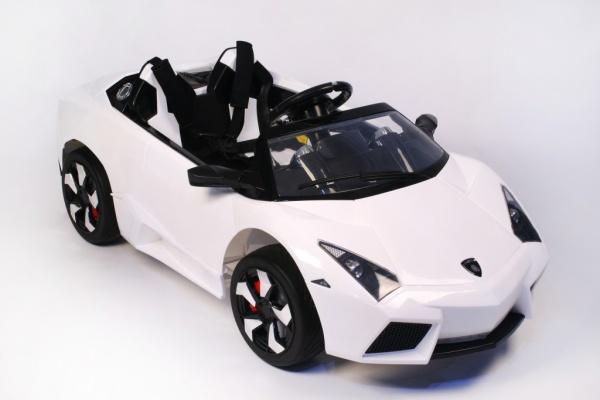 Электромобиль Rivertoys Lambo LS-518 белый с дистанционным управлением