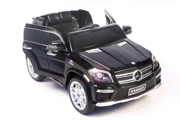 Электромобиль Rivertoys Mercedes-Benz GL63 AMG черный глянцевый с дистанционным управлением