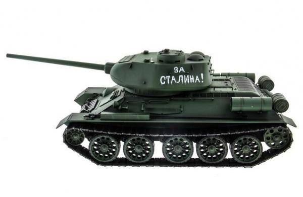 Радиоуправляемый танк Heng Long T34-85 (зеленый) 2.4 Ghz (пневмо)