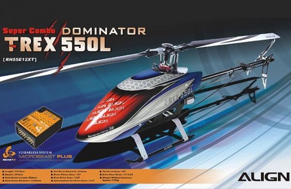 Радиоуправляемый вертолет Align Corporation T-Rex 550L Dominator Super Combo (Microbeast PLUS), электро, KIT