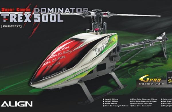Радиоуправляемый вертолет Align Corporation T-Rex 500L Dominator Super Combo, электро, KIT