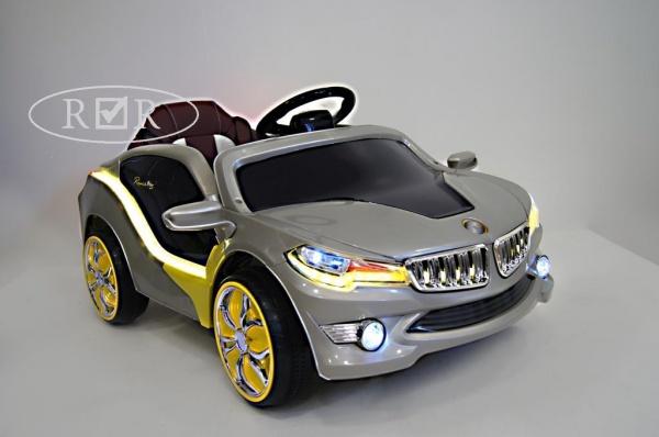 Электромобиль Rivertoys BMW O002OO VIP с дистанционным управлением, серебристый