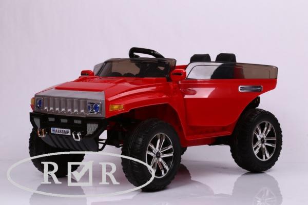 Электромобиль Rivertoys Hummer A888MP с дистанционным управлением, красный