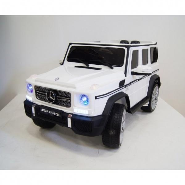 Электромобиль Rivertoys Mercedes-Benz-G65-AMG (ЛИЦЕНЗИЯ) с дистанционным управлением, белый