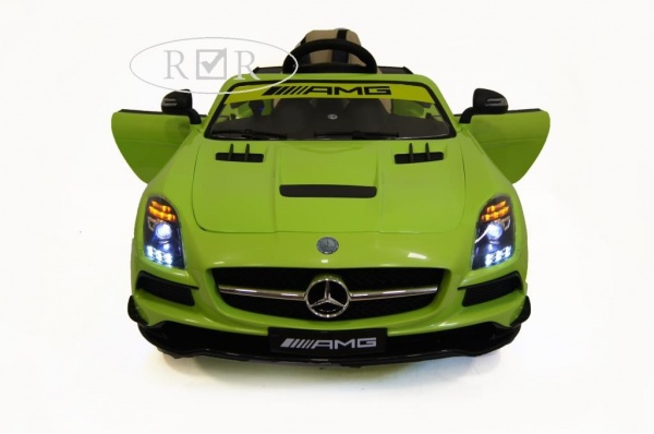 Электромобиль Rivertoys Mercedes-Benz SLS A333AA VIP (ЛИЦЕНЗИЯ) зеленый