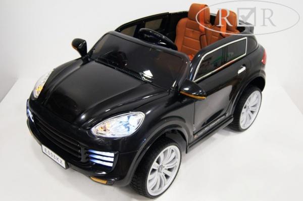 Электромобиль Rivertoys Porsche E008KX с дистанционным управлением, черный
