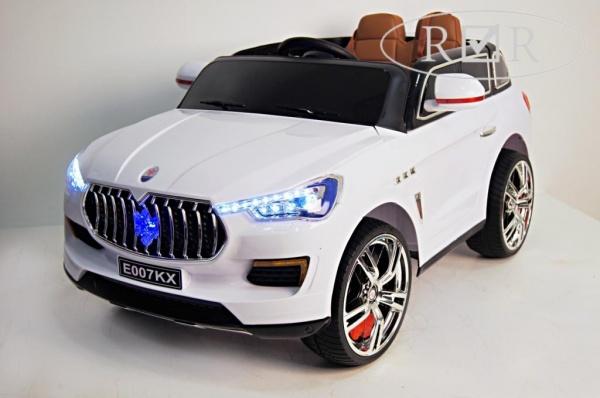 Электромобиль Rivertoys Maserati E007KX с дистанционным управлением белый