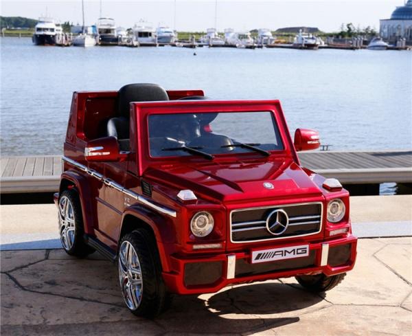 Электромобиль Rivertoys Mercedes-Benz G-65 (ЛИЦЕНЗИЯ), красный глянец