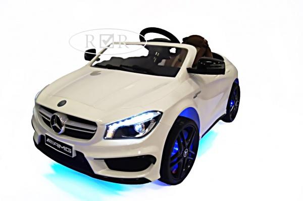Электромобиль Rivertoys Mercedes-Benz CLA45 A777AA (ЛИЦЕНЗИЯ) с дистанционным управлением, белый
