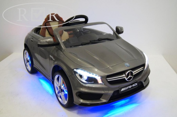 Электромобиль Rivertoys Mercedes-Benz CLA45 A777AA (ЛИЦЕНЗИЯ) с дистанционным управлением, серебристый