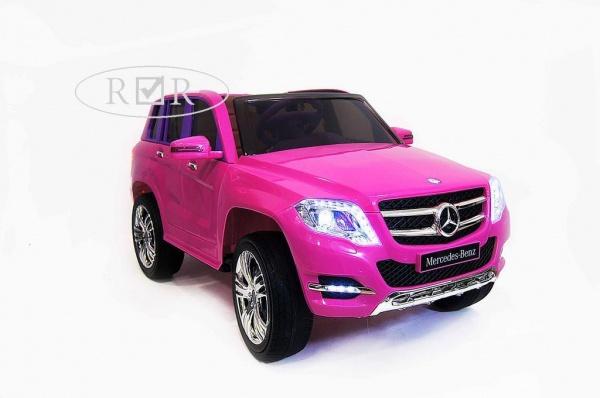 Электромобиль Rivertoys Mercedes-Benz GLK300 (ЛИЦЕНЗИЯ) с дистанционным управлением, розовый