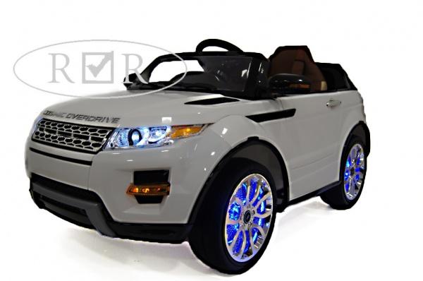 Электромобиль Rivertoys Range Rover A111AA VIP с дистанционным управлением, белый