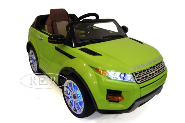 Электромобиль Rivertoys Range Rover A111AA VIP с дистанционным управлением, зеленый