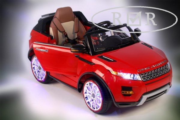 Электромобиль Rivertoys Range Rover A111AA VIP с дистанционным управлением, красный