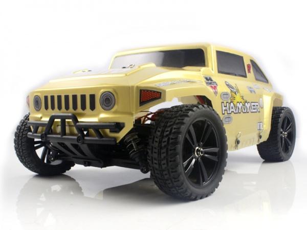 Радиоуправляемый шорт-корс 1/10 4WD электро - Iron Track Hummer RTR, бесколлекторная система, влагозащита, аккумулятор, З/У