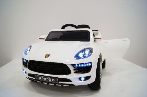 Электромобиль RiverToys Porsche Macan O005OO VIP с дистанционным управлением, белый