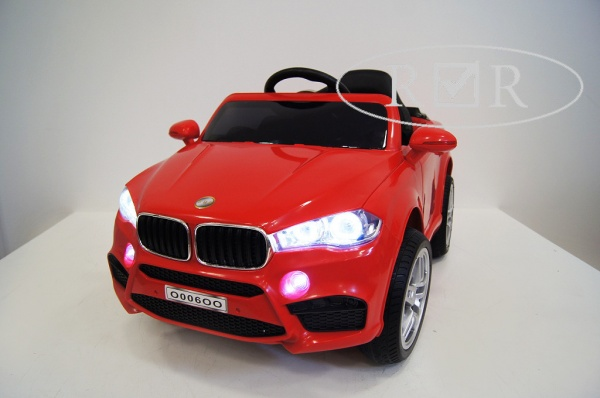 Электромобиль RiverToys BMW O006OO VIP с дистанционным управлением, красный