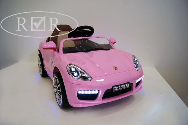Электромобиль RiverToys Porsche Panamera A444AA (кожа) с дистанционным управлением, розовый