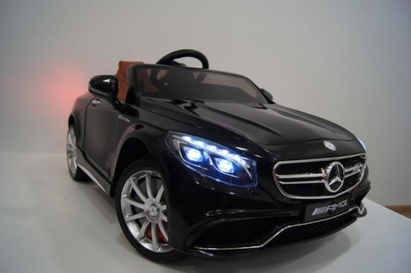 Электромобиль RiverToys Mercedes-Benz S63 (лицензионная модель) с дистанционным управлением, черный