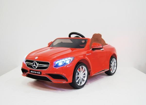 Электромобиль RiverToys Mercedes-Benz S63 (лицензионная модель) с дистанционным управлением, красный