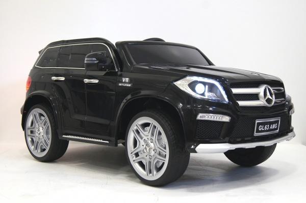 Электромобиль RiverToys Mercedes-Benz GL63 AMG (лицензионная модель) с дистанционным управлением, черный