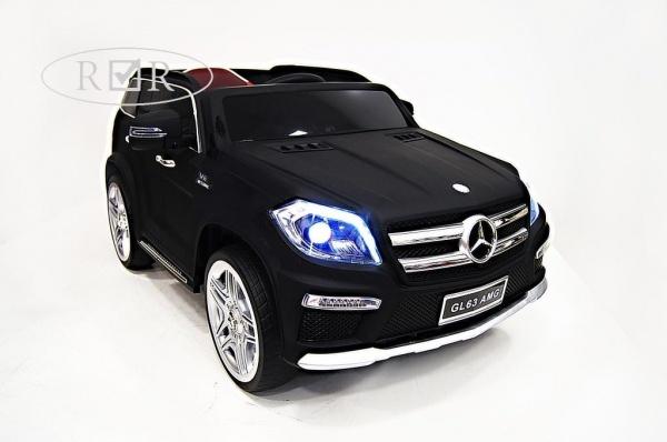 Электромобиль RiverToys Mercedes-Benz GL63 AMG (лицензионная модель) с дистанционным управлением, черный матовый