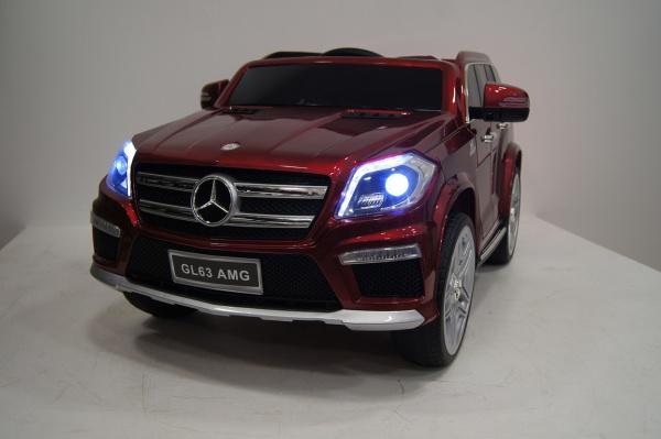 Электромобиль RiverToys Mercedes-Benz GL63 AMG (лицензионная модель) с дистанционным управлением, вишневый матовый