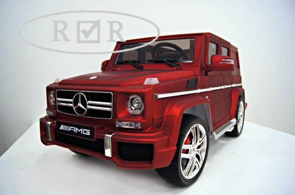 Электромобиль RiverToys Mercedes-Benz G63 (лицензионная модель) с дистанционным управлением, вишневый матовый