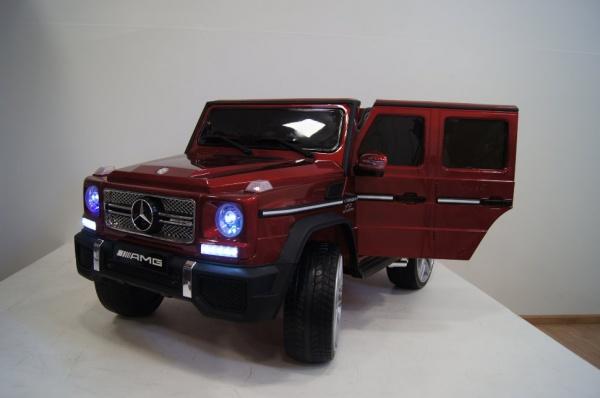 Электромобиль RiverToys Mercedes-Benz-G65-AMG (лицензия) с дистанционным управлением, вишневый глянец