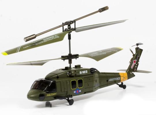Радиоуправляемый вертолет Syma Black Hawk UH-60 - S102G с гироскопом