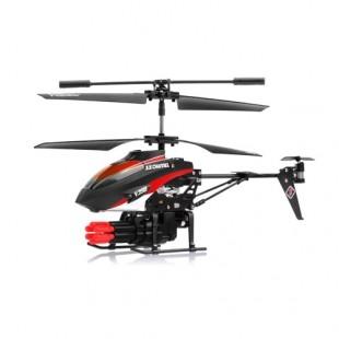 Радиоуправляемый вертолет WL toys с ракетной установкой и снарядами - V398